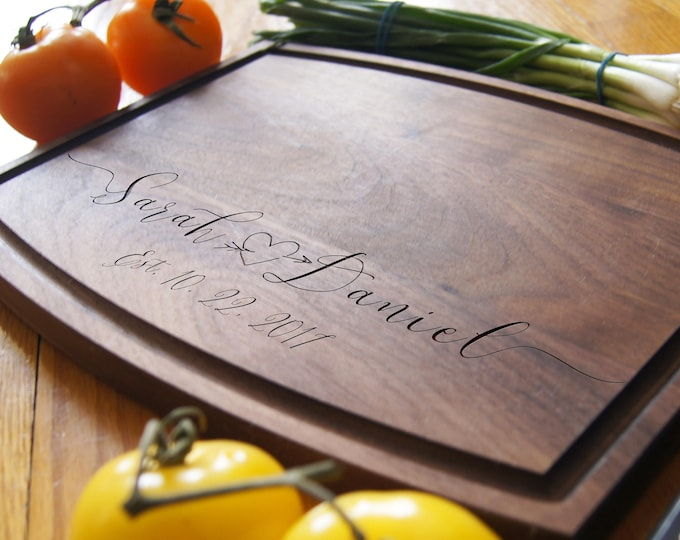 Personalized Cutting Boards, Engraved cutting board, housewarming gifts, wedding gift, Christmas gift