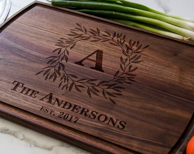 Personalized Cutting Board,Custom cutting board, Engraved cutting board, housewarming gifts, wedding gifts, Christmas gift