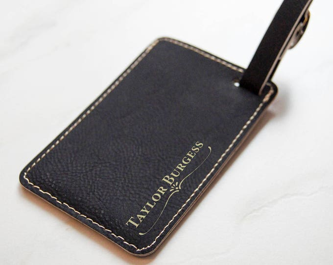 Personalized Luggage Tag, Leather Luggage Tag, customized Bag Tag, Gift for him, custom engraved luggage tag, Monogram Luggage Tag