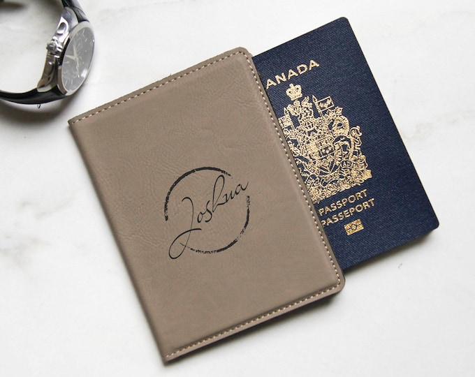 Custom Passport Cover,  Personalized Passport Holders, Engraved Passport Cover, Leatherette  Passport Cover