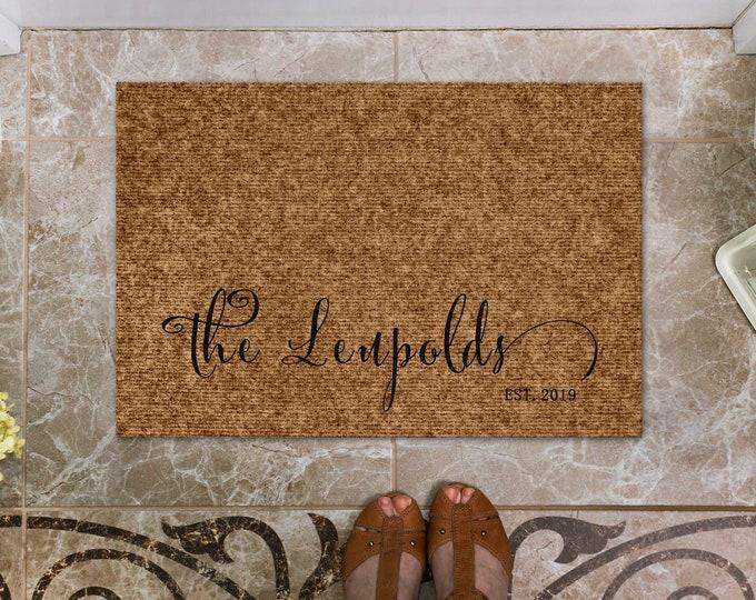 Personalized Door Mat, Custom Door Mat, Welcome Door Mat, Housewarming Gift, Family Gift