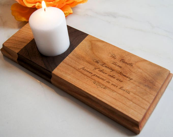 Personalized Memorial Candle holder, customized candle holder, Home Decor, wooden candle holder, personalized gift