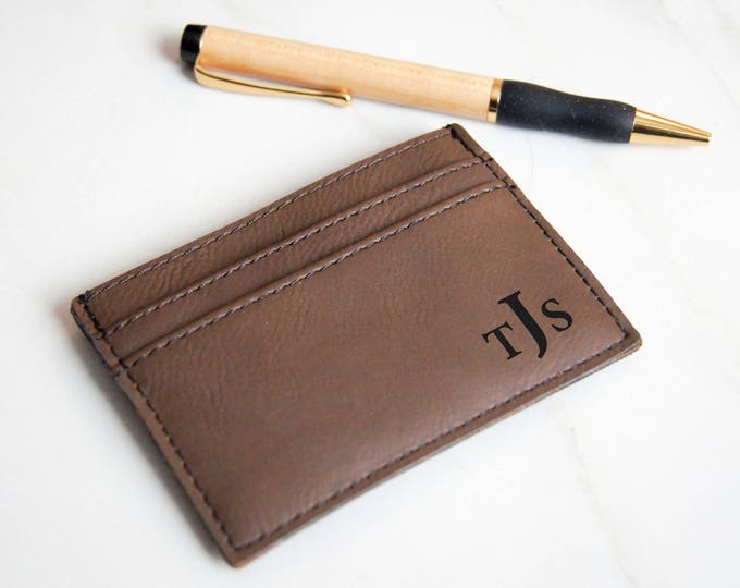 Money clips, Personalized Money clips, Leatherette Money clips, Engraved Leather Money clips