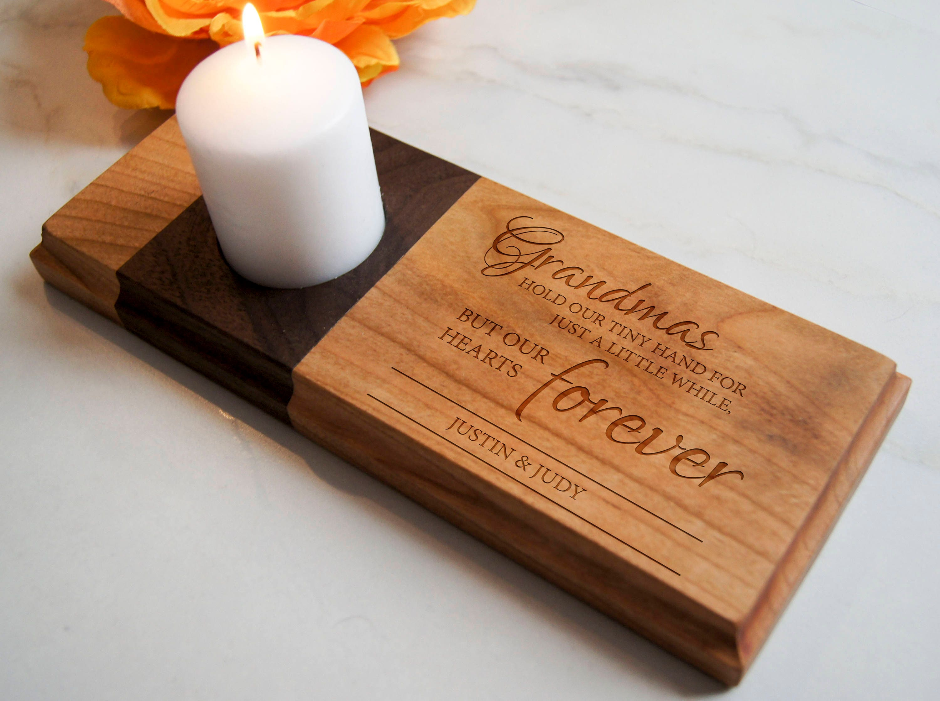 Personalized Memorial Candle Holder Grandma Memorial Customized
