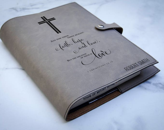 Personalized bible cover,  Leather Bible Cove, Custom Bible Cover, Christian Gifts for Men, First Communion  gift
