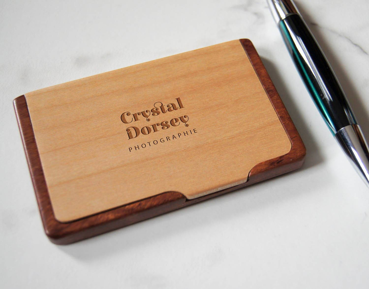 Customized Business Cards Holder, Personalized Wooden Business Cards ...