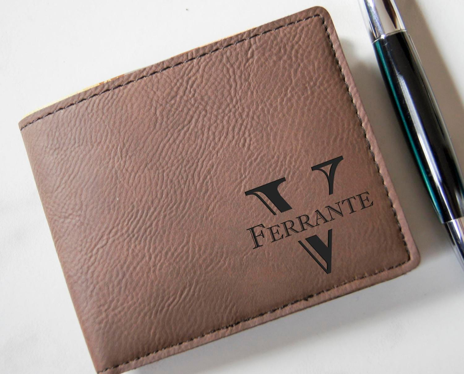 Custom leather Wallets Groomsmen Gifts Engraved Leather Wallet Personalized Mens Wallet Leatherette wallets Gifts for him