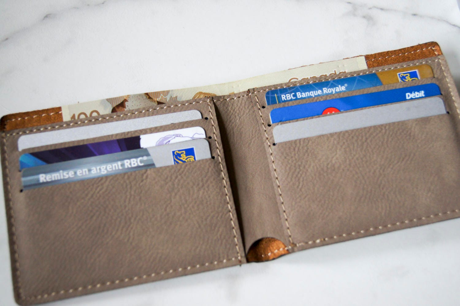 Personalized Leather Zipper Wallet Miles Kimball