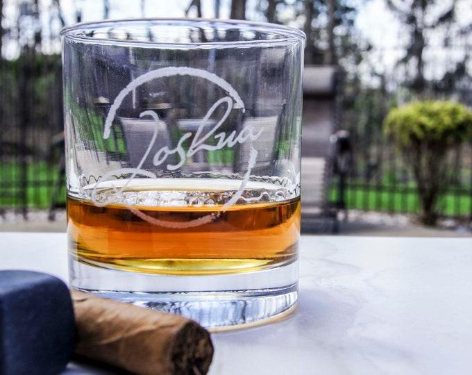 Personalized set of 4 Whiskey Glasses, Groomsmen Gift, Custom Rocks Glasses, Engraved Glasses, Scotch Glasses, Monogram Whiskey Glasses