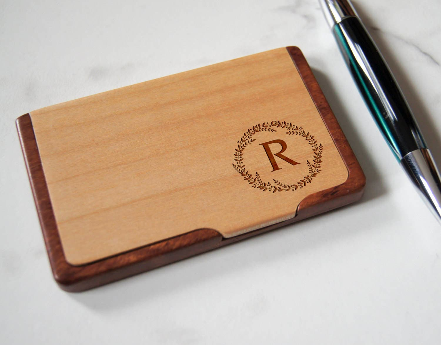 Customized business cards holder personalized wooden business cards customized business cards holder personalized wooden business cards holder engraved business cards cases colourmoves
