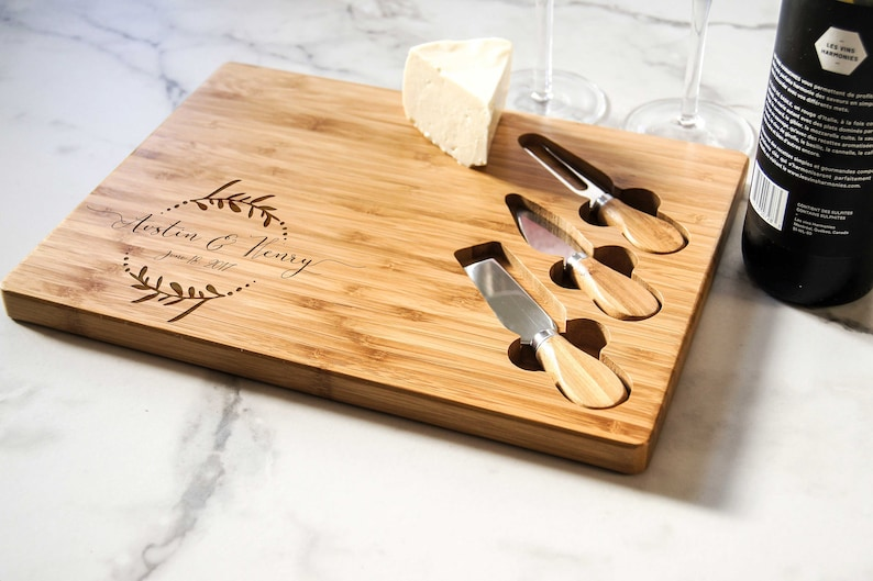 Personalized cheese board set Custom cheese board set image 0