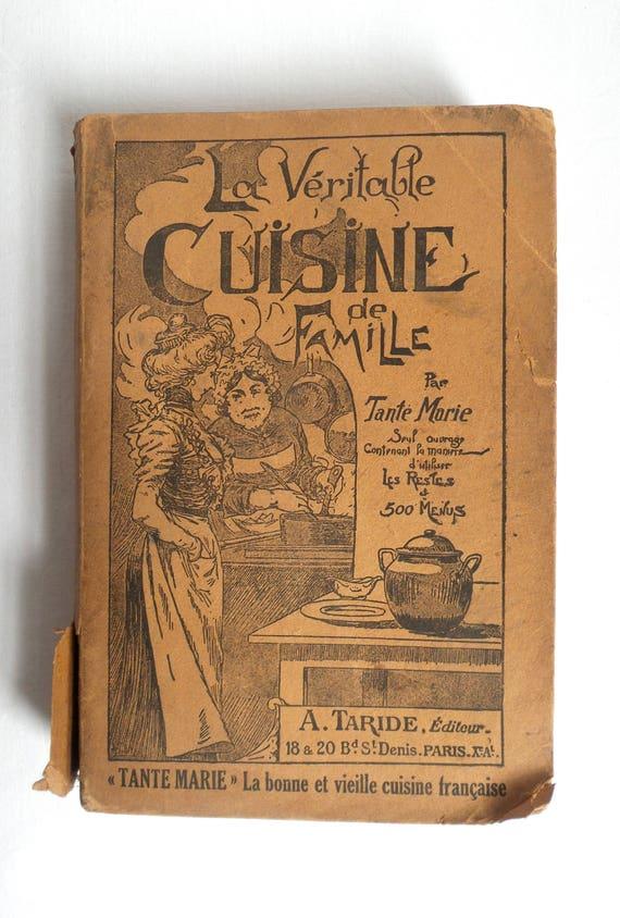 Francese antico libro di cucina / famiglia tradizionali | Etsy