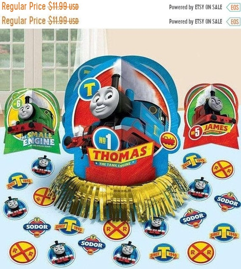 Awe Inspiring On Sale Thomas The Train Table Centerpiece Decorations Kit Home Interior And Landscaping Sapresignezvosmurscom