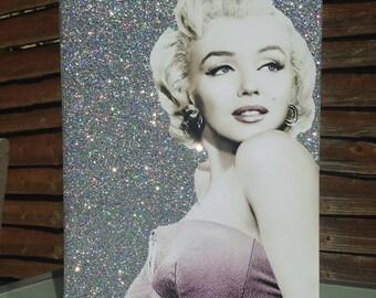 A3 Glitter Marilyn Monroe Canvas