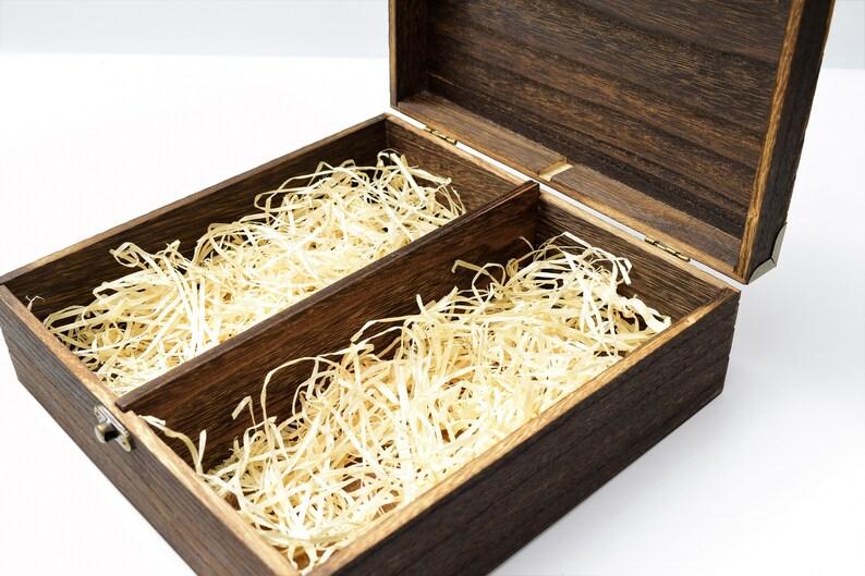 wooden gift box rustic gift box Glass cups best man gift box partitioned gift box gift box for him, Groomsman gift box