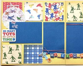 So Many Toys 2 Page Scrapbook Kit