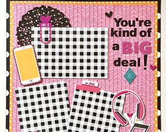 You're Kind of a Big Deal 1 Page Scrapbook Kit