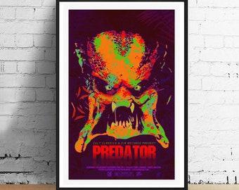 Predator Inspired Horror Movie Art Print 11 x 17 Film Poster