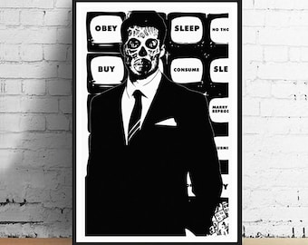 John Carpenter They Live Obey Alien Politician 11 x 17 Limited Edition Horror Movie Poster Art Print