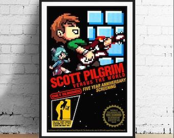 Scott Pilgrim v. The World 11 x 17 Art Print - Alternative Movie Poster