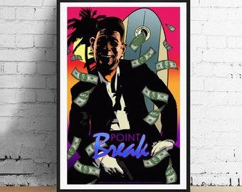 Point Break Surfing President Reagan 11x17 Limited Edition 80's Alternate Movie Poster Art Print