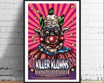Killer Klowns from Outer Space 11 x 17 Horror Movie Art Film Print - Alternative Movie Poster
