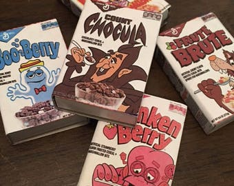Mystery Matchbox Grab Bag of 5 Mini Matchbox General Mills Monster Cereal Boxes