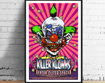 Killer Klowns from Outer Space 11 x 17 Horror Movie Poster Film Art Print Alternative Movie Poster