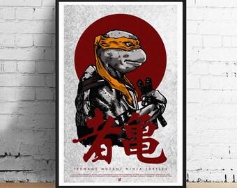 Complete Set of 4 Ninja Turtle 11 x 17 Art Prints - Teenage Mutant Ninja Turtles Alternative Movie Poster