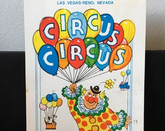 Vintage Circus Circus Hotel Notebook, Vintage Clowns, Vintage Circus