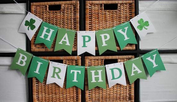 Kiss Me I/'m Irish milestone birthday 40 years blessed St Patricks birthday St Patricks Day banner # blessed St Patricks day party