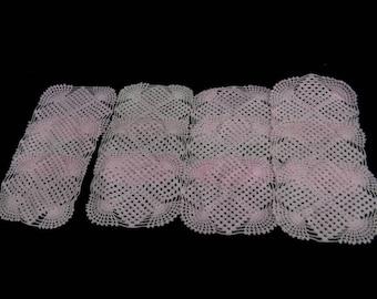 "Mexican handmade doilies, set of 12, 7-1/2""x7-1/2"""