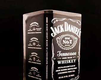 Recycled Jack Daniel's Whiskey Bottle Candle