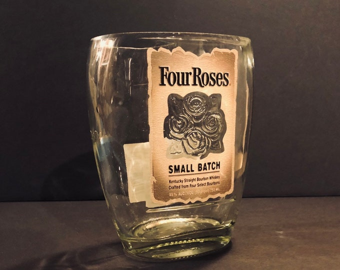 Recycled Four Roses Small Batch Bourbon Whiskey Bottle Candle