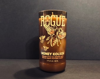 Rogue Honey Kolsch Bottle Candle w/ Mountain Honey Scent