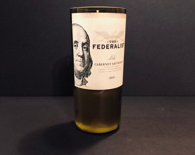 The Federalist Cabernet Sauvignon Wine Bottle Candle w/ Frankincense and Myrrh Scent