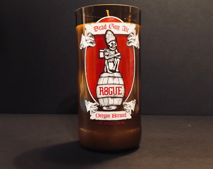 Rogue Dead Guy Ale Beer Bottle Candle w/ Gingerbread Scent