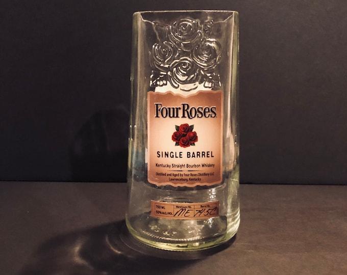 Recycled Four Roses Single Barrel Bourbon Whiskey Bottle Candle
