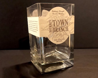 Recycled Town Branch Bourbon Whiskey Bottle Candle