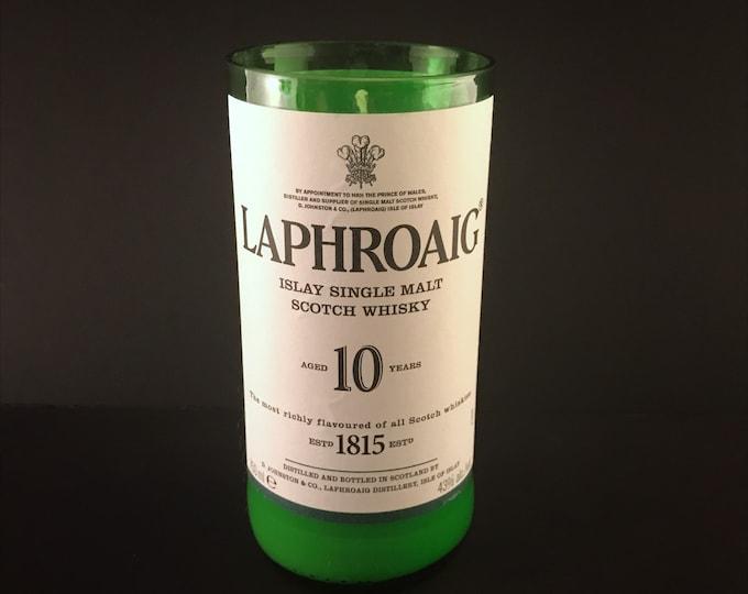 Recycled Laphroaig Bottle Candle