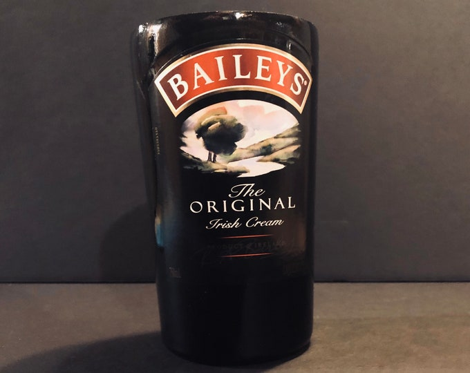 Recycled Bailey's Irish Cream Bottle Candle