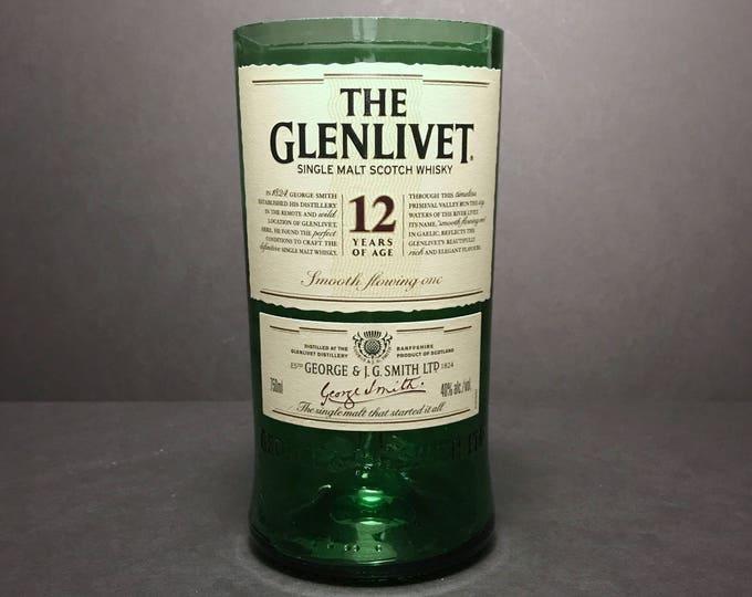 Recycled Glenlivet 12 Scotch Whisky Bottle Candle