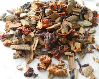 Apple Cider Tea - Mulled Cider Loose Leaf Tea - Herbal Tea - Apple Cinnamon Tea - Spicy Tea - Caffeine-Free Tea - Decaf Tea - Christmas Tea