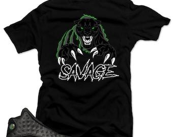 170ca45b35976f T shirt to match Air Jordan 13 Black Cat Sneakers