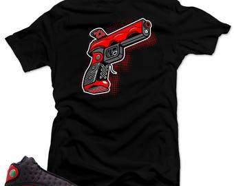 official photos 959dc efd1c Shirt to Match Air Jordan 13 Bred. 9MM Gun Black Tee