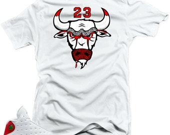 reputable site 88ddb 8a0ed T Shirt to Match Air Jordan 13 Chicago
