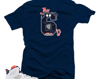 ffc2c69ad25390 Shirt to Match Jordan Retro 6 Tinker-The 6 s Navy Tee