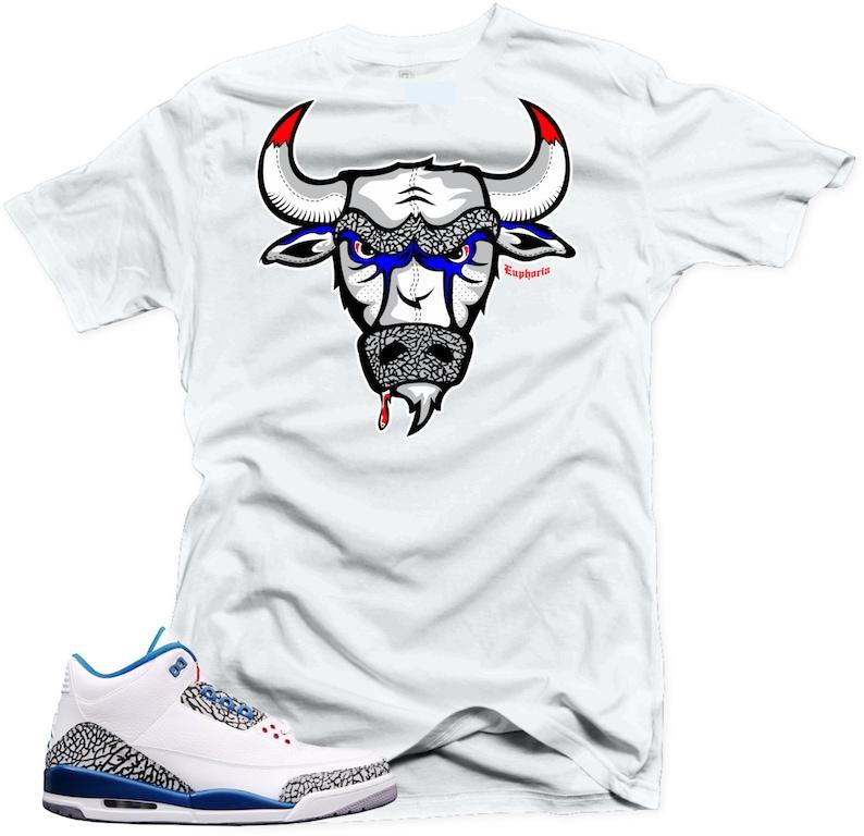 c538668ccbdb T Shirt to match Nike Air Jordan Retro 3 true blue The