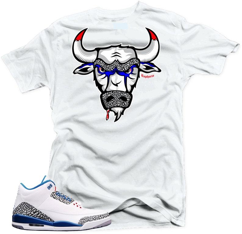 fa7a8f7cf4dd1e T Shirt to match Nike Air Jordan Retro 3 true blue The