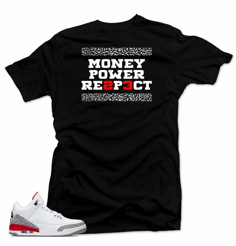 231cda605071 Shirt to Match Jordan 3 katrina sneakers.Money 3 Black Tee